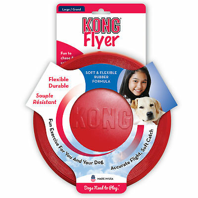 KONG K9 Flyer For Dogs - Natural Rubber Frisbee Disc Large (KF3)