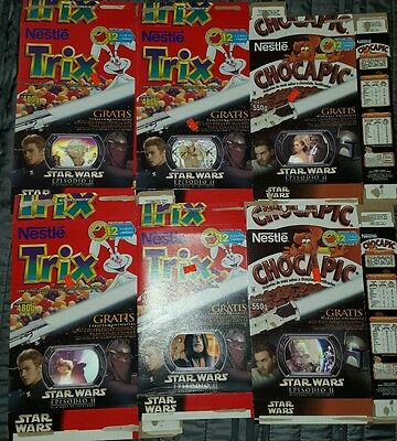 RARE Star Wars Episode II Mexican Limited Edition Cereal Boxes Lenticular Cards