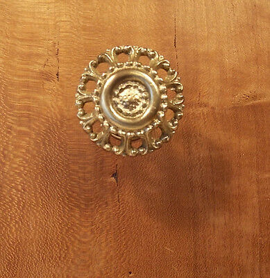 One Antique Brass knob (four available)