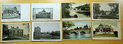 Lot of 8 Antique Postcards ALL HENNIKER, NH New Hampshire ALL UNDIVIDED BACK