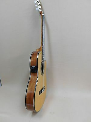 Miguel Rosales C38/SM Thin Solid Spruce Top Classical Guitar with EQ + Soft Case