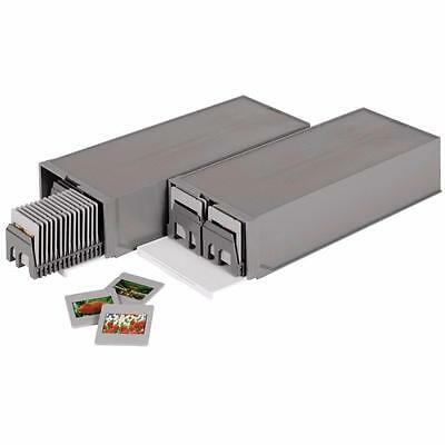 Hama 1086 Twin Pack 35Mm Universal Slide Magazines In Stackable Storage Box