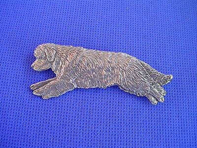 Newfoundland Leaping Pin #96C Newfy Pewter Working Dog Jewelry Cindy A. Conter