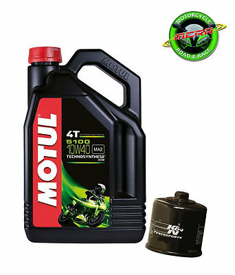 Kawasaki ZX10R 2004-2005 - 5 Litres Motul 5100 Engine Oil & K&N Oil Filter