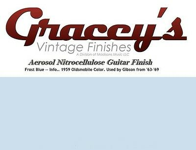 -Frost Blue- Gracey's Vintage Finishes Nitrocellulose Guitar Lacquer.