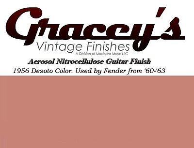 -Shell Pink- Gracey's Vintage Finishes Nitrocellulose Guitar Lacquer Aerosol.