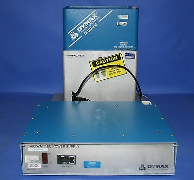 (1) Used Dymax 400W EC Power Supply with Dymax 1200-EC Ultraviolet Light Source
