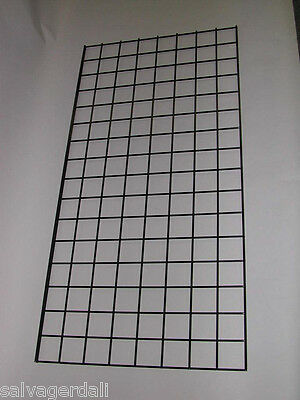 BLACK Gridwall Grid Wall Panel  2' x 6'  LOT OF 12 And Display Accessories NEW