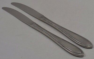 Stainless Interpur INR5 Japan Vintage Beaded Handle Point Tip 2 Solid Knives