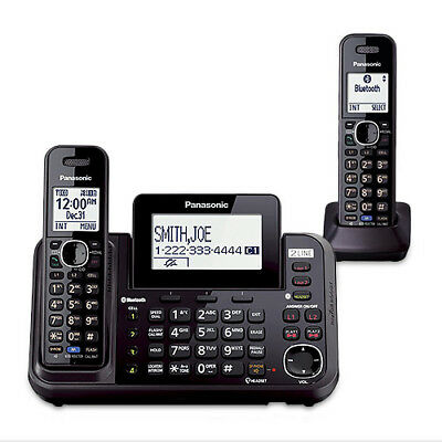 Panasonic KX-TG9542B 2 Handset Expandable Corded / Cordless Phone DECT 6.0 New