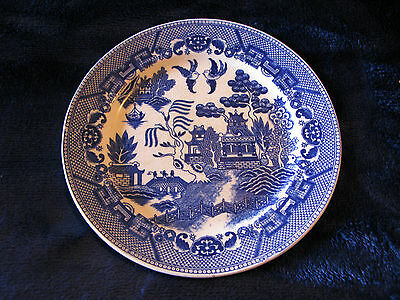 Vintage BLUE WILLOW Made In Japan DINNER Luncheon PLATE 9 1/8""