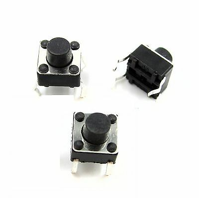 100pcs Micro switch push button 6 * 6 * 6 mm 6X6X6 mm NEW