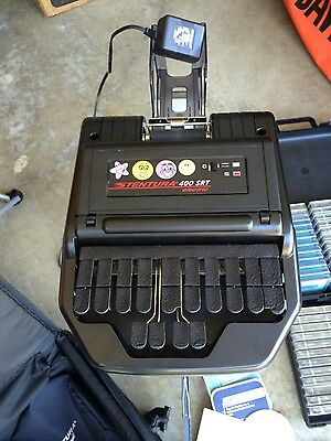Stenograph Stentura 400 SRT electric court reporting machine & extras