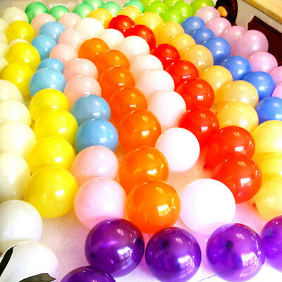 """100X 10"""""""" Inch Latex Helium Or Air Quality Balloons For Party Wedding Birthday"""