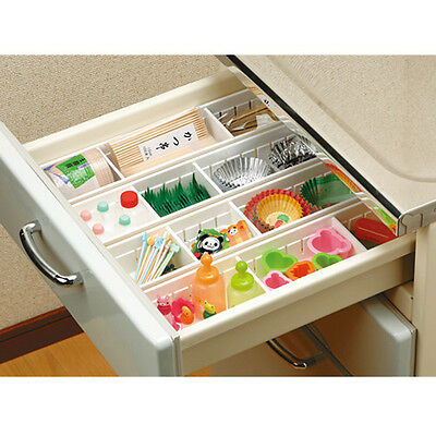 Truyoo Plastic Cutlery Fork Spoon Box Drawer Organiser Storage 3 Compartments