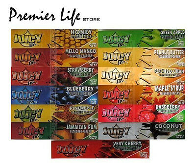 4 Books of Juicy Jays King Size Flavoured Rolling Papers- Mix & Match