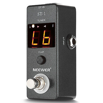 Neewer ST-1 Compact Chromatic Guitar Tuner Pedal True Bypass