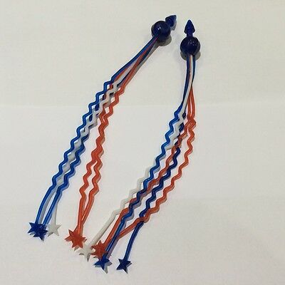 Metalplast Type Handlebar Zig Zag Streamers - Red White & Blue