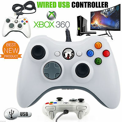 New Wired Xbox 360 Controller USB Game Pad For Microsoft Windows Laptop PC UK