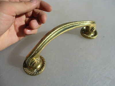 "Antique Style Brass Door Handle Pull Ornate Rope Late Vintage Old 7"" Length"