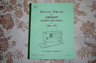 Service Manual on CD, Singer 478 (and Applicable to 457 466 477) Sewing Machines