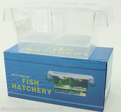 Discount Leisure Aquarium Fish Tank Breeder Fry Hatchery Breeding Box #BB01