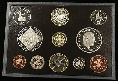 2008 United Kingdom Executive Proof Set 11 Gem Coins Total with Box and COA