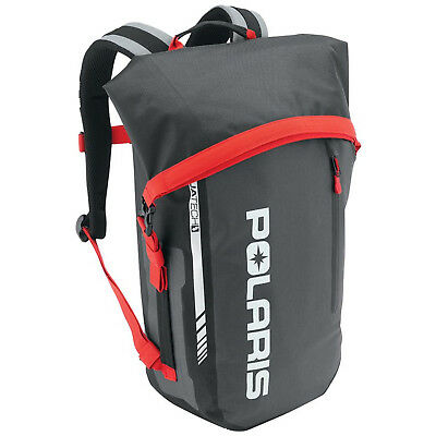 Polaris New OEM Ogio Waterproof Backpack, Black/Red, 2864217