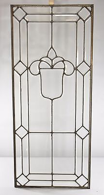 Antique Full Beveled Door Panel / Window with Shield Pattern