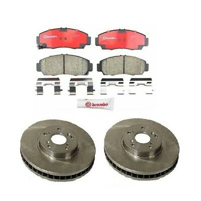 Brembo Rotors Brake Pads Front /& Rear for Toyota RAV4 w//o 3rd Row Seating