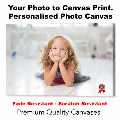 "Your Photo Picture Canvas Print - Personalised Canvas Ready to Hang 30"" x 20"" A1"