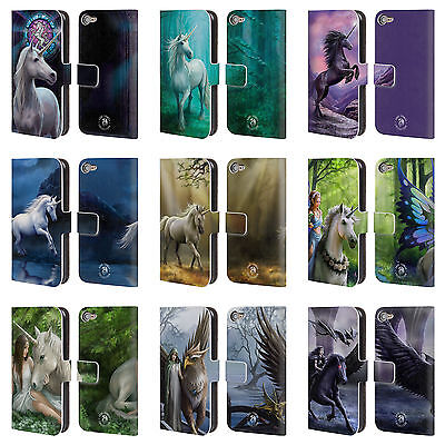 ANNE STOKES MYTHICAL CREATURES LEATHER BOOK WALLET CASE FOR APPLE iPOD TOUCH MP3