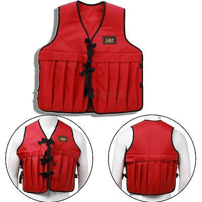 Adjustable Weighted Training Vest Jacket Fitness Running Strength Gym Exercise