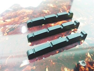 Lot of 3 Plastic Guitar Nuts For P Bass  43mm - Black