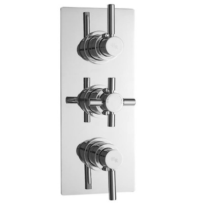 Hudson Reed Tec Pura Plus Triple Concealed Thermostatic Shower Valve