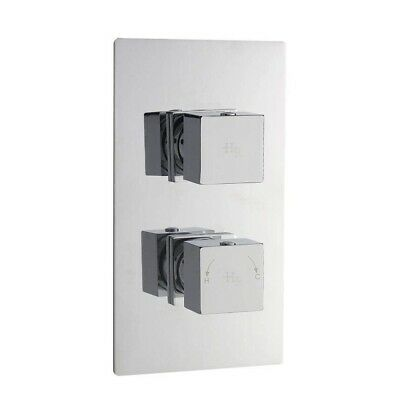 Hudson Reed Kubix 1 Way Twin Concealed Thermostatic Shower Valve