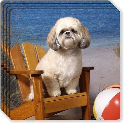 Shih Tzu Rubber Coaster Set