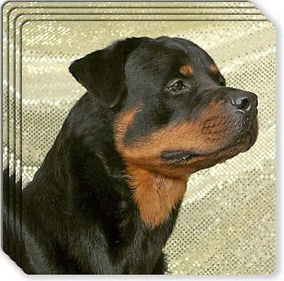 Rottweiler Rubber Coaster Set