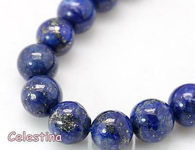 Lapis Lazuli Round Gemstone Beads Various Sizes 4mm 6mm 8mm 10mm 12mm Blue Dyed