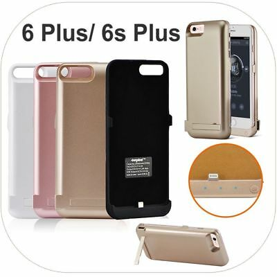 """External Battery Backup Power Bank Charger Cover Case for iPhone 6 6s Plus 5.5"""""""