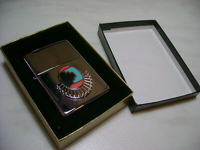 "Zippo Lighter Feuerzeug Serie Indian Southwest Mod 345 ""santa Fe"" New"