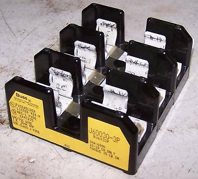 Bussmann Fuse Holder, J60030-3P, Complete Unit, Used, Warranty