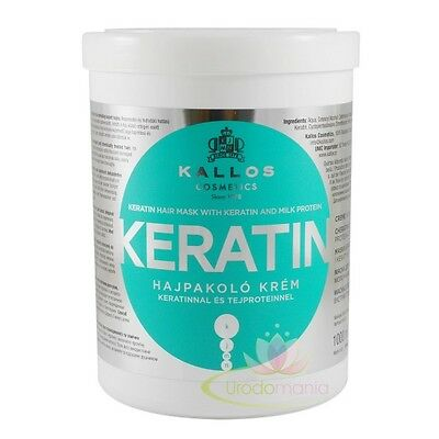 KALLOS  KERATIN KJMN  PROFESSIONAL HAIR MASK 1000ml  PROTEIN FOR DRY DAMAGED