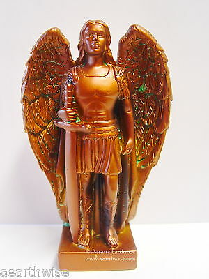 1 x ARCHANGEL MICHAEL FIGURINE ANTIQUE BRONZE RESIN 138mm Wicca Witch Pagan