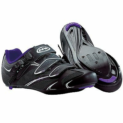 Northwave Womens Starlight SRS SPD-SL Black / Violet Road Bike Cycling Shoes