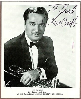 Lee Castle, Jazz Trumpet Player & Bandleader, Signed Photo, COA, UACC RD 036