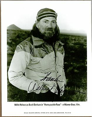"""Willie Nelson, Country Singer, Signed 8"""" x 10"""" B & W Photo, COA, UACC Rd 036"""