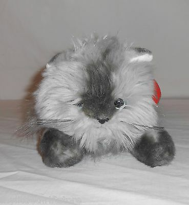 """2006 TY 20th Anniv. Edition Classic Plush Grey Himalayan Cat """"Smokey"""" with Tags"""