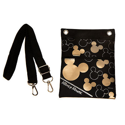 Disney Mickey Mouse Cross Body Shoulder Bag Black and Gold