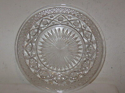 "Antique Imperial Cape Cod Crystal 6 1/2"" Bread and Butter Plate VFC"